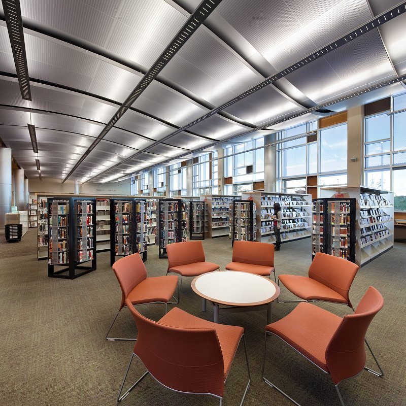 Centennial hills library ii kuda architectural photography for Kitchen library portland
