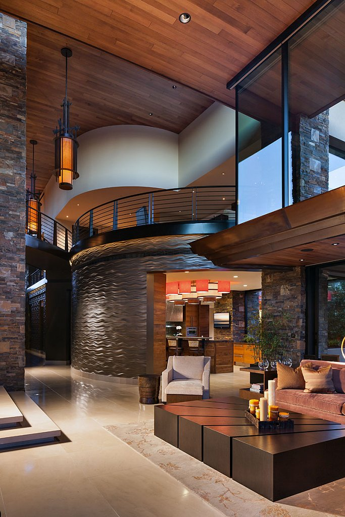 Contemporary Estate - living room