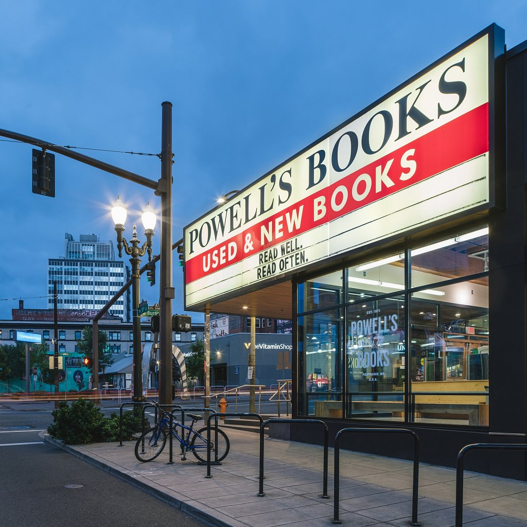 Powell's Books - iconic marquee